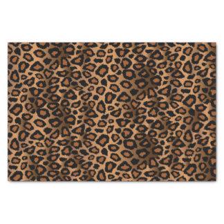 Papier Mousseline Motif de conception de léopard de Brown