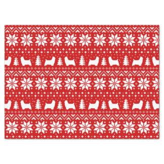 Papier Mousseline Motif de Noël de silhouettes de Terrier soyeux