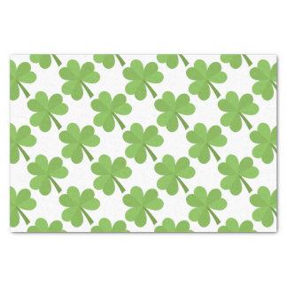 Papier Mousseline Motif de trèfle de l'Irlande d'Irlandais de