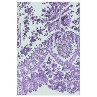 Papier Mousseline Motif floral pourpre de dentelle