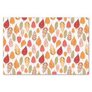 Papier Mousseline Motif peint de feuille d'automne
