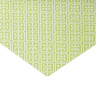 Papier Mousseline Motif principal grec vert de kiwi