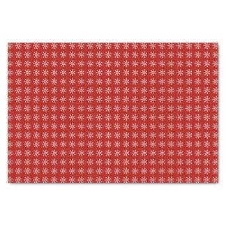 Papier Mousseline Motif rouge de Noël de flocon de neige