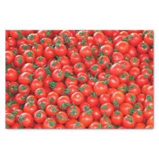 Papier Mousseline Motif rouge de tomates cerise