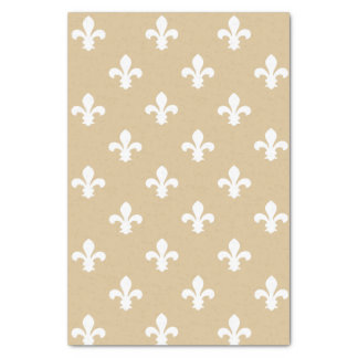 Papier Mousseline Neutral Fleur de Lys blond