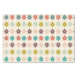 Papier Mousseline Noël coloré moderne de poinsettia