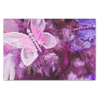 Papier Mousseline Noël dans le rose et le pourpre