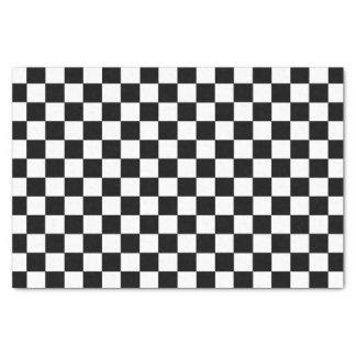 Papier Mousseline Noir et blanc Checkered