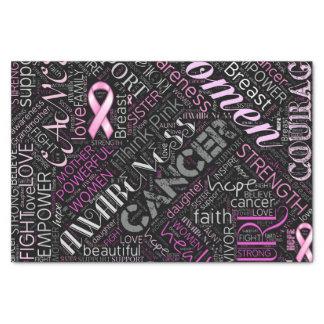 Papier Mousseline Nuage ID261 de mot de conscience de cancer du sein