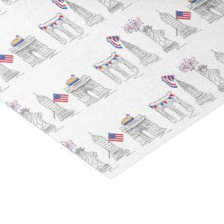 Papier Mousseline NYC New York City feux d'artifice patriotiques
