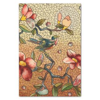 Papier Mousseline Oiseau de style en verre souillé sur un arbre