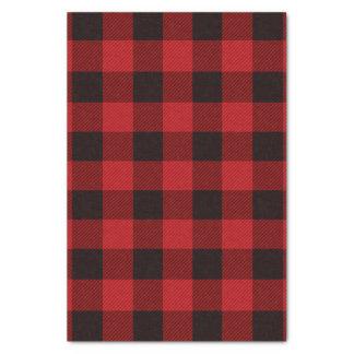 Papier Mousseline plaid rouge de bûcheron de buffle de Noël de
