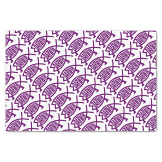 Papier Mousseline Poissons originaux de Darwin (violets)