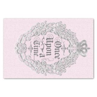 Papier Mousseline Princesse rose il était une fois vintage Elegant