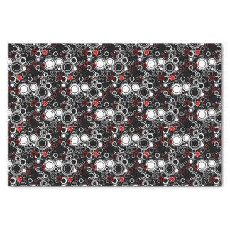 Papier Mousseline Rétros cercles rouges et blancs