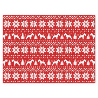Papier Mousseline Rouge de motif de Noël de silhouettes de région