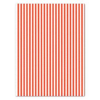 Papier Mousseline Rouge et blanc barrés