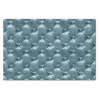 Papier Mousseline Tiffany aquatique Teal en cuir tufté métallique