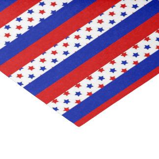 Papier Mousseline Tissu patriotique de partie de motif de rayures