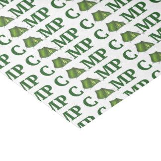 Papier Mousseline Tissu vert de cadeau de campeur de colonie de