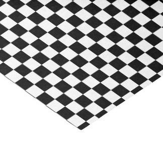 Papier Mousseline tuiles Checkered de noir de couleur d'U-sélection