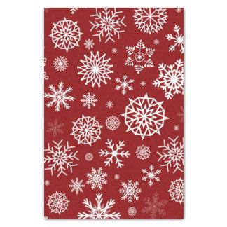 Papier Mousseline Vacances rouges de Noël blanc de flocon de neige