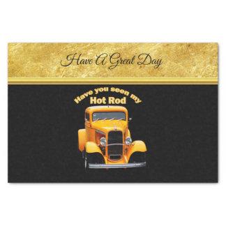 Papier Mousseline Vieux roadster jaune avec la conception de foill