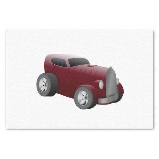Papier Mousseline voiture de muscle de hot rod de rouge de cerise