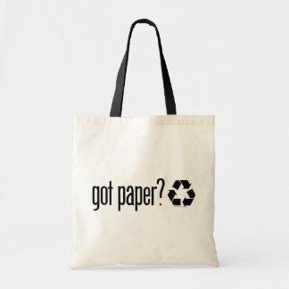papier obtenu ? Réutilisation du signe Tote Bag