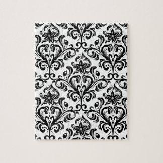 Papier peint floral de damassé puzzle