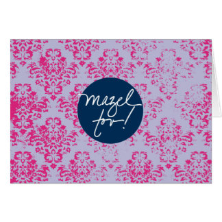 Papier peint rose de Mazels Tov Carte De Correspondance