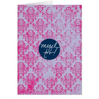 Papier peint rose de Mazels Tov Carte De Vœux