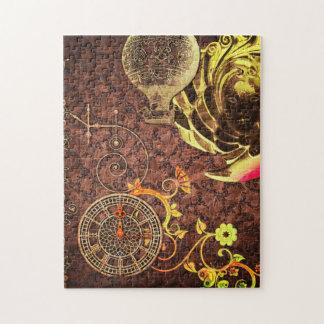 Papier peint vintage de Steampunk Puzzle