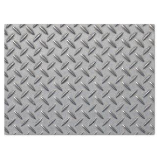 Papieren zakdoekje met metaal donkergrijs bord tissuepapier