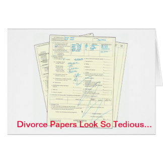 Papiers pénibles de divorce - carte de