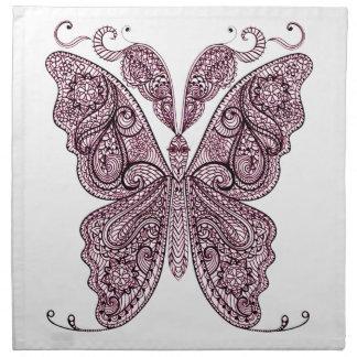 Papillon 8 serviettes en tissus