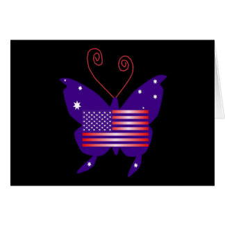 Papillon américain de diva cartes de vœux