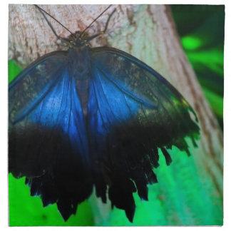 Papillon bleu commun serviettes de table