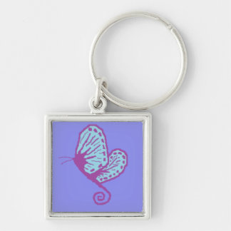 Papillon bleu porte-clés