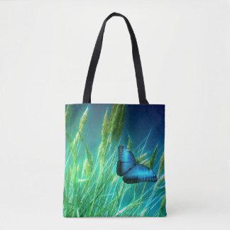 Papillon bleu sac