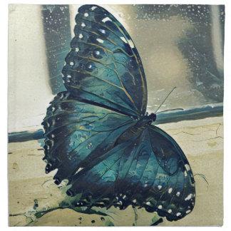 Papillon bleu serviettes de table
