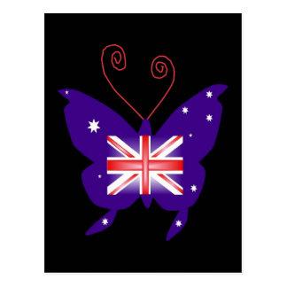 Papillon britannique de diva carte postale