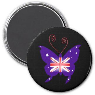 Papillon britannique de diva magnets pour réfrigérateur