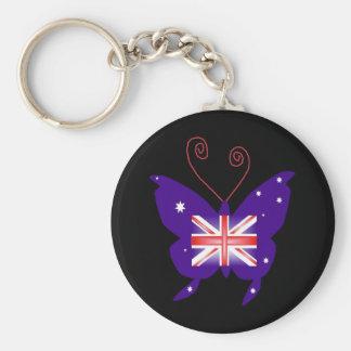 Papillon britannique de diva porte-clés