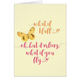 Papillon - ce qui si je tombe ?  - Carte inspirée