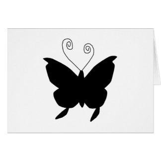 Papillon de diva carte de vœux