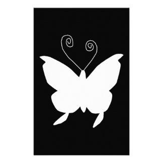 Papillon de diva dans le blanc papier à lettre customisable