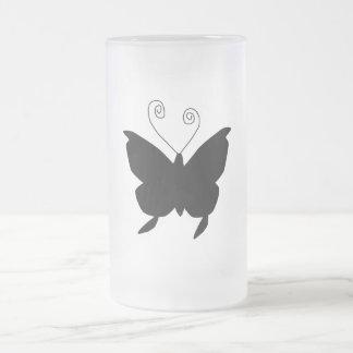 Papillon de diva mug en verre givré
