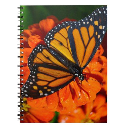 Papillon de monarque carnet à spirale