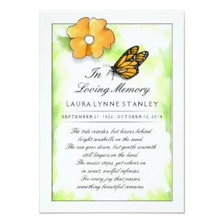 Papillon de monarque dans la mémoire du carte de